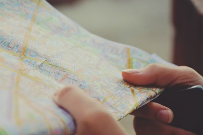 Holding a Map